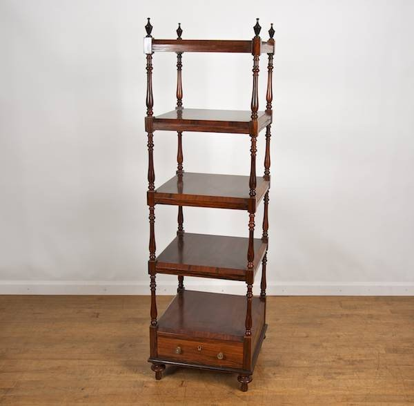 2165: Victorian style rosewood and painted 5-tier etage