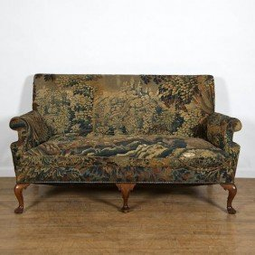 Antique George II Style Settee With Flemish Tapes