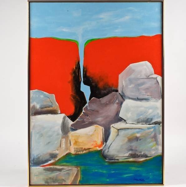2440: David Hare (1917-1992, American), painting