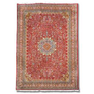 "Kirman carpet, approx. 17' x 23'6"""