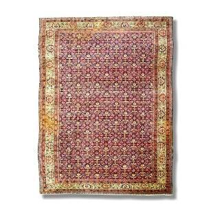 "Persian carpet, approx. 9'10"" x 13'8"""