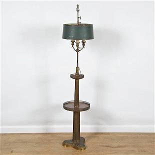Antique Empire style bronze floor lamp