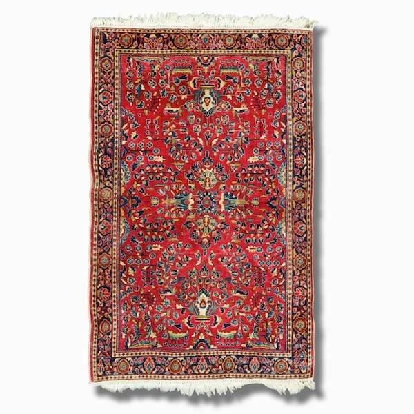 """3021: Sarouk rug, approx. 3'7"""" x 5'3"""""""