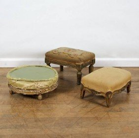 (3) Antique Louis XV And XVI Style Giltwood Foot