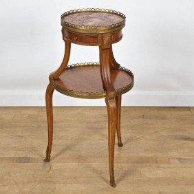 Louis XV/XVI Transitional Style 2-tier Occasional
