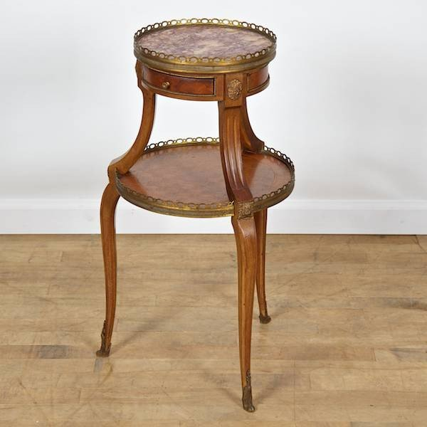 3078: Louis XV/XVI transitional style 2-tier occasional