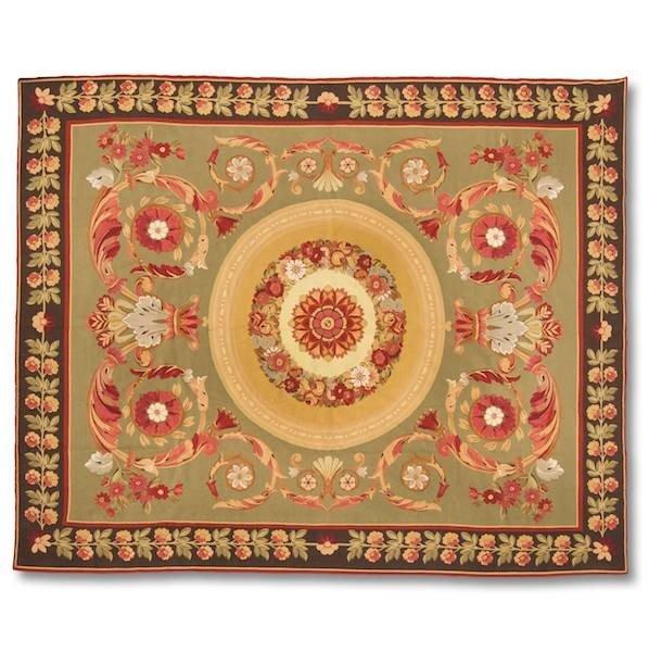 """3082: Aubusson carpet, approx. 11'5"""" x 13'2"""""""