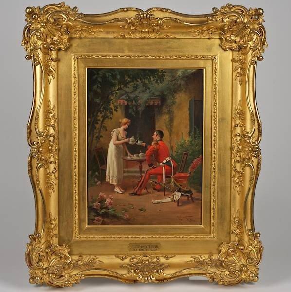 3090: Albert Joseph Penot (1862-1930, French), painting
