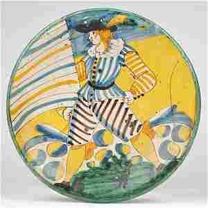 3272: Antique Montelupo maiolica dish