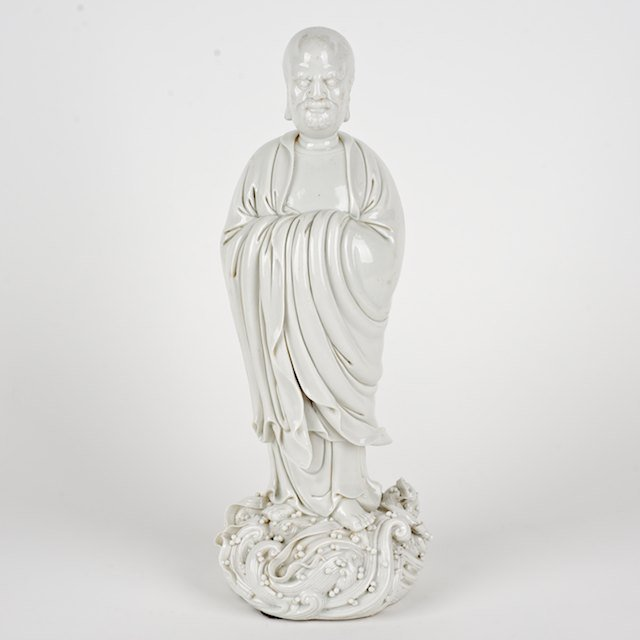 1017: Chinese blanc de chine porcelain figure of Luohan