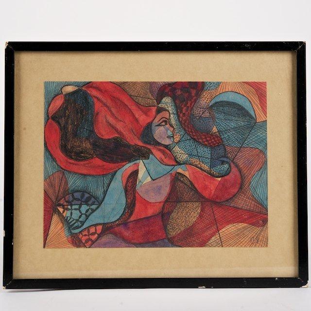 1310: Attr. to Pavel Tchelitchew (1898-1957, Russian/Am