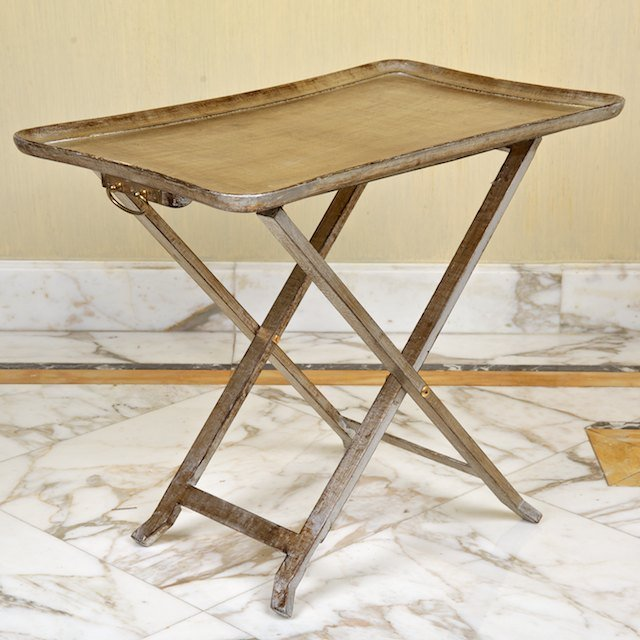1470: (2) sets Italian silvered wood snack tables on st - 3