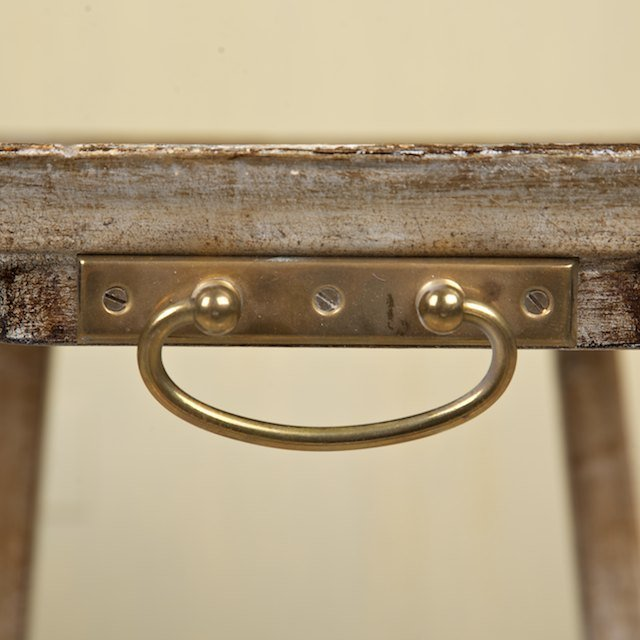 1470: (2) sets Italian silvered wood snack tables on st - 4