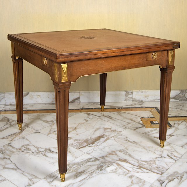 2021: Directoire style games table by Frederick Victori