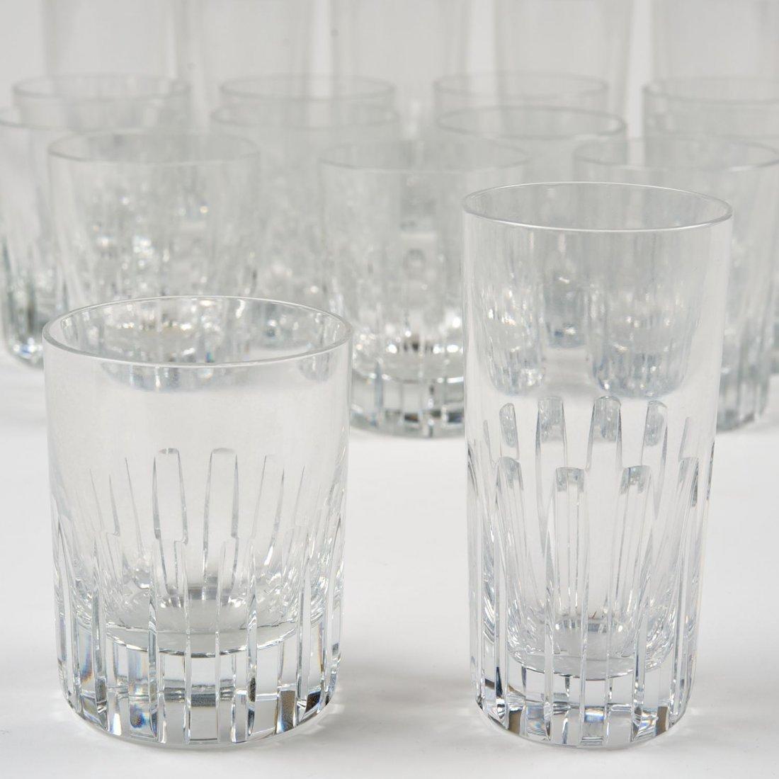 "Set Baccarat crystal ""Rotary"" pattern barware"