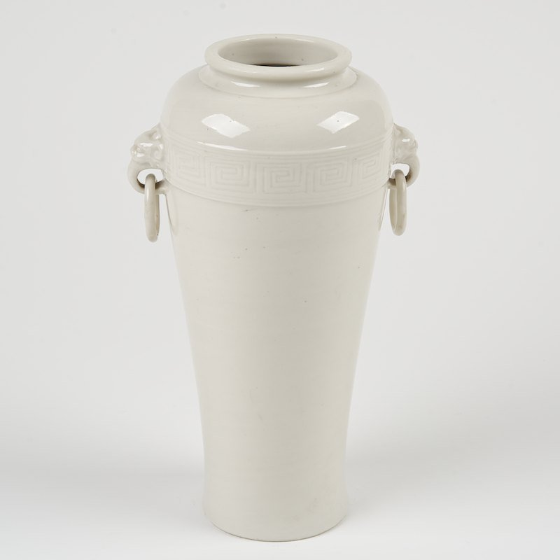 Chinese blanc de chine meiping vase