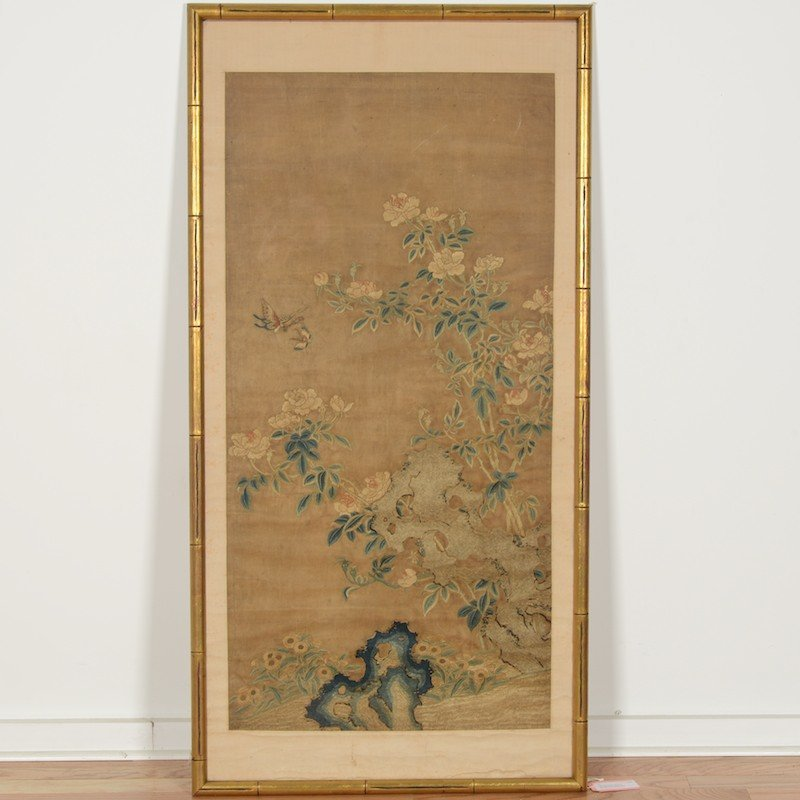 Chinese School (18th/19th c.), silk embroidery