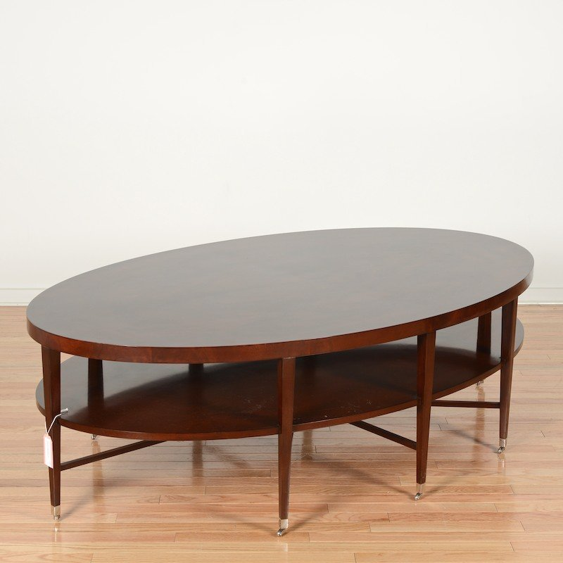 Rosenau oval coffee table by Bolier & Co.