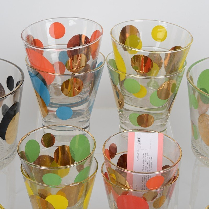 """Collection Russel Wright """"Eclipse"""" glass barware - 2"""