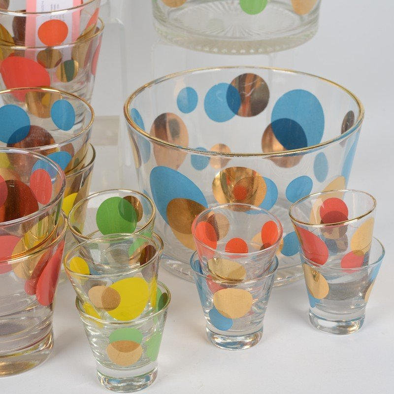 """Collection Russel Wright """"Eclipse"""" glass barware - 3"""