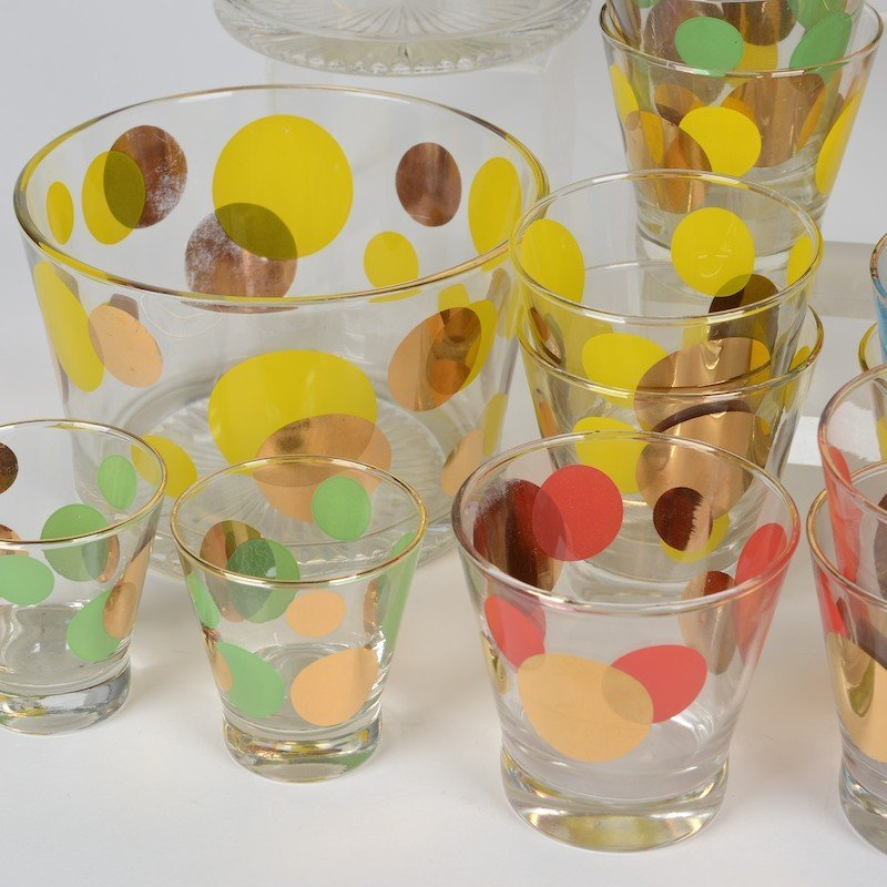 """Collection Russel Wright """"Eclipse"""" glass barware - 4"""