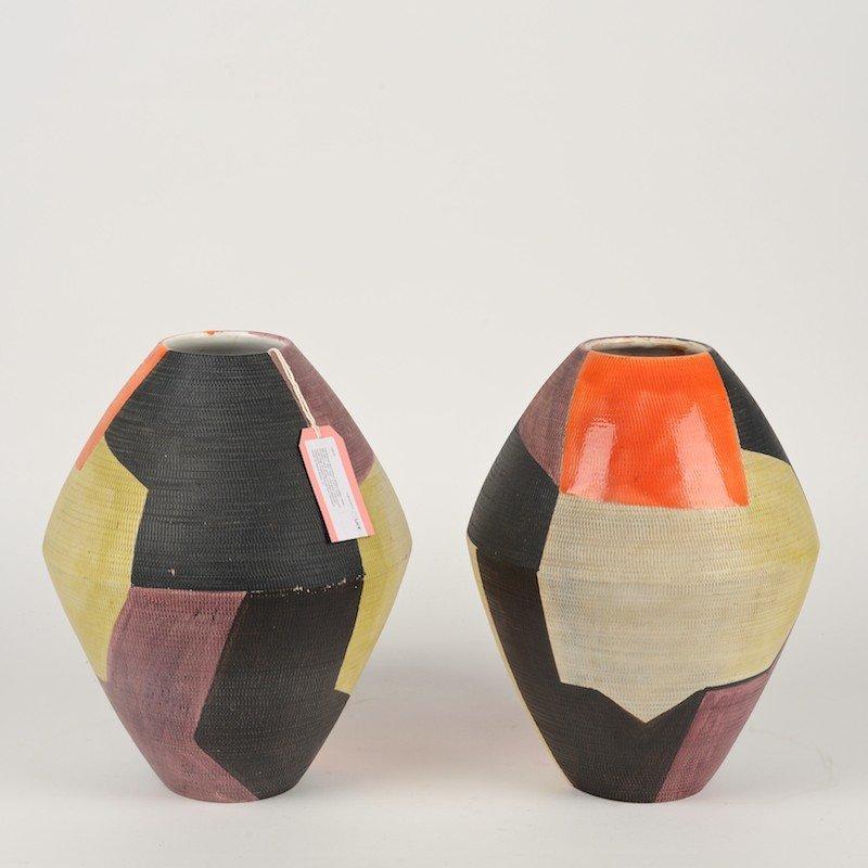 Raymor mid century modern pottery vases pair raymor mid century modern pottery vases reviewsmspy