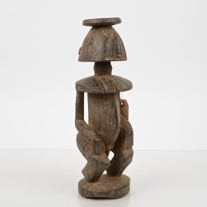 African tribal carved wood statue