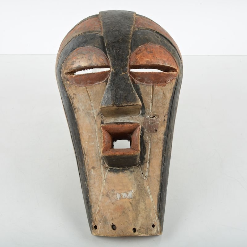African tribal carved wood mask