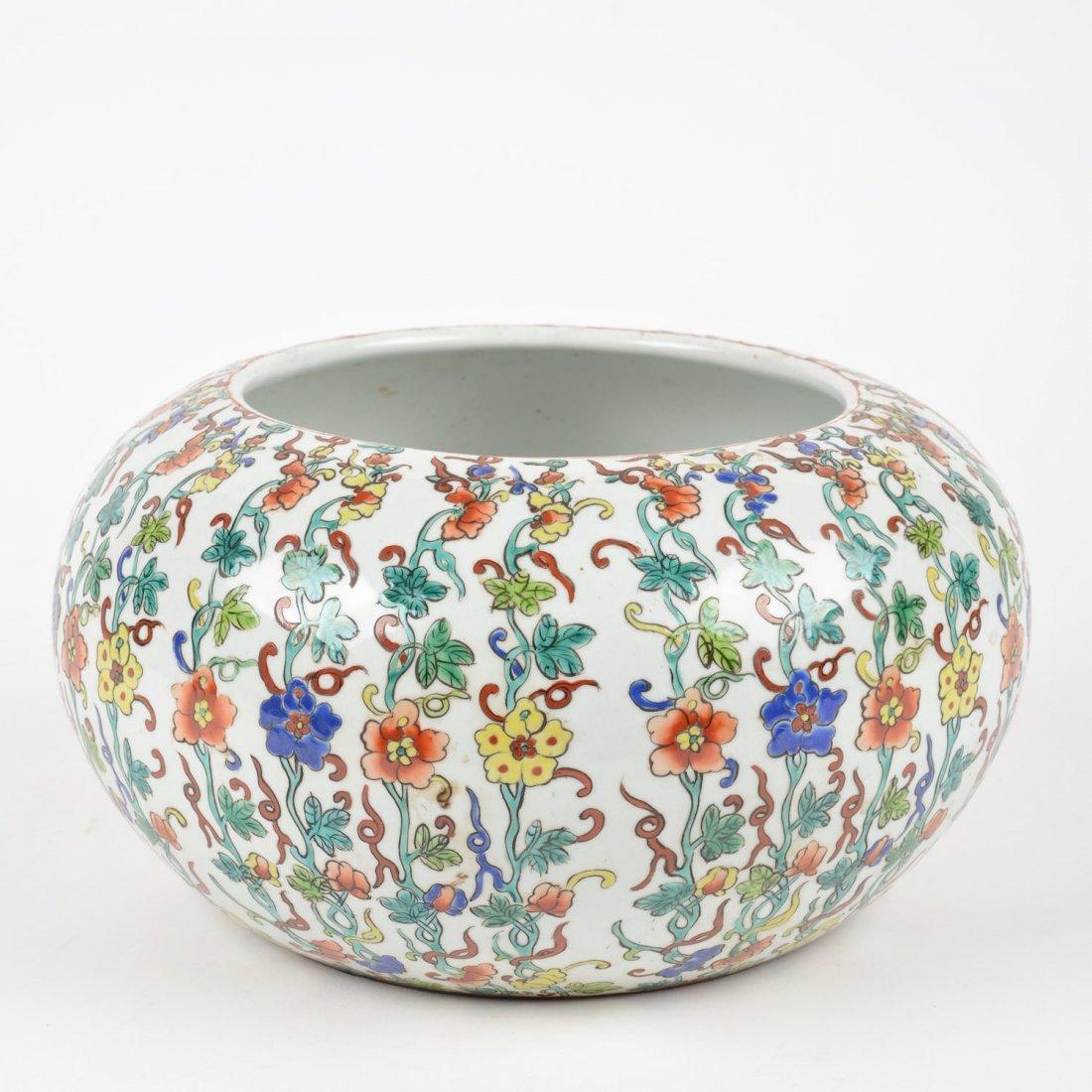 Chinese wucai porcelain alms bowl