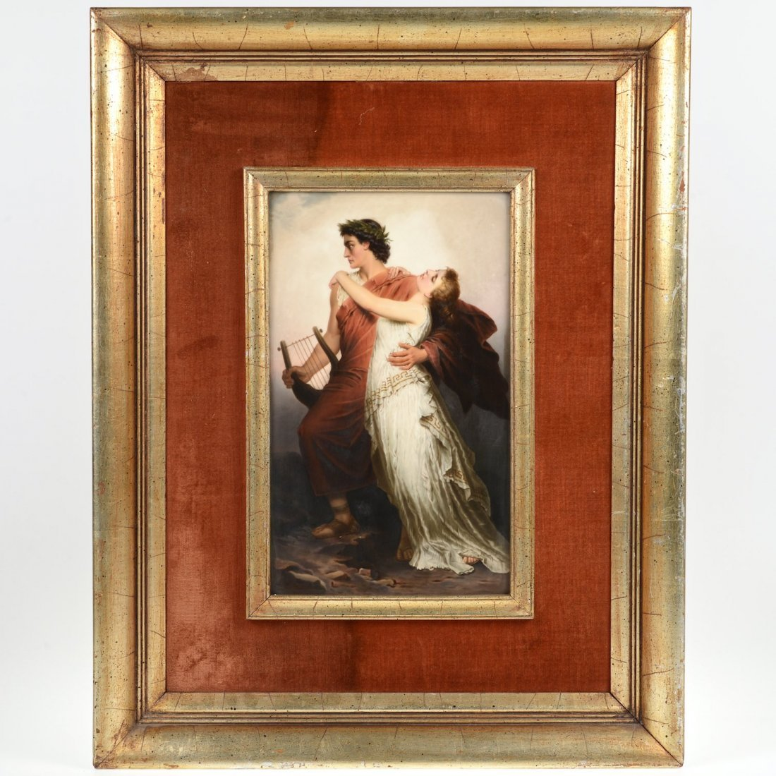 Large German KPM porcelain plaque