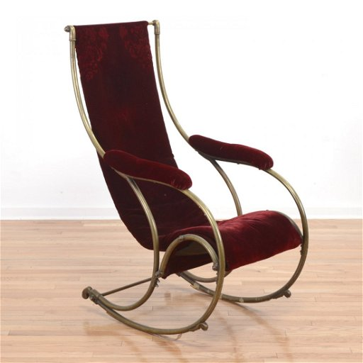 Pleasant R W Winfield Steel And Brass Rocking Chair Squirreltailoven Fun Painted Chair Ideas Images Squirreltailovenorg