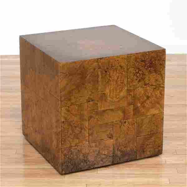 Paul Evans, Directional burl wood cube side table