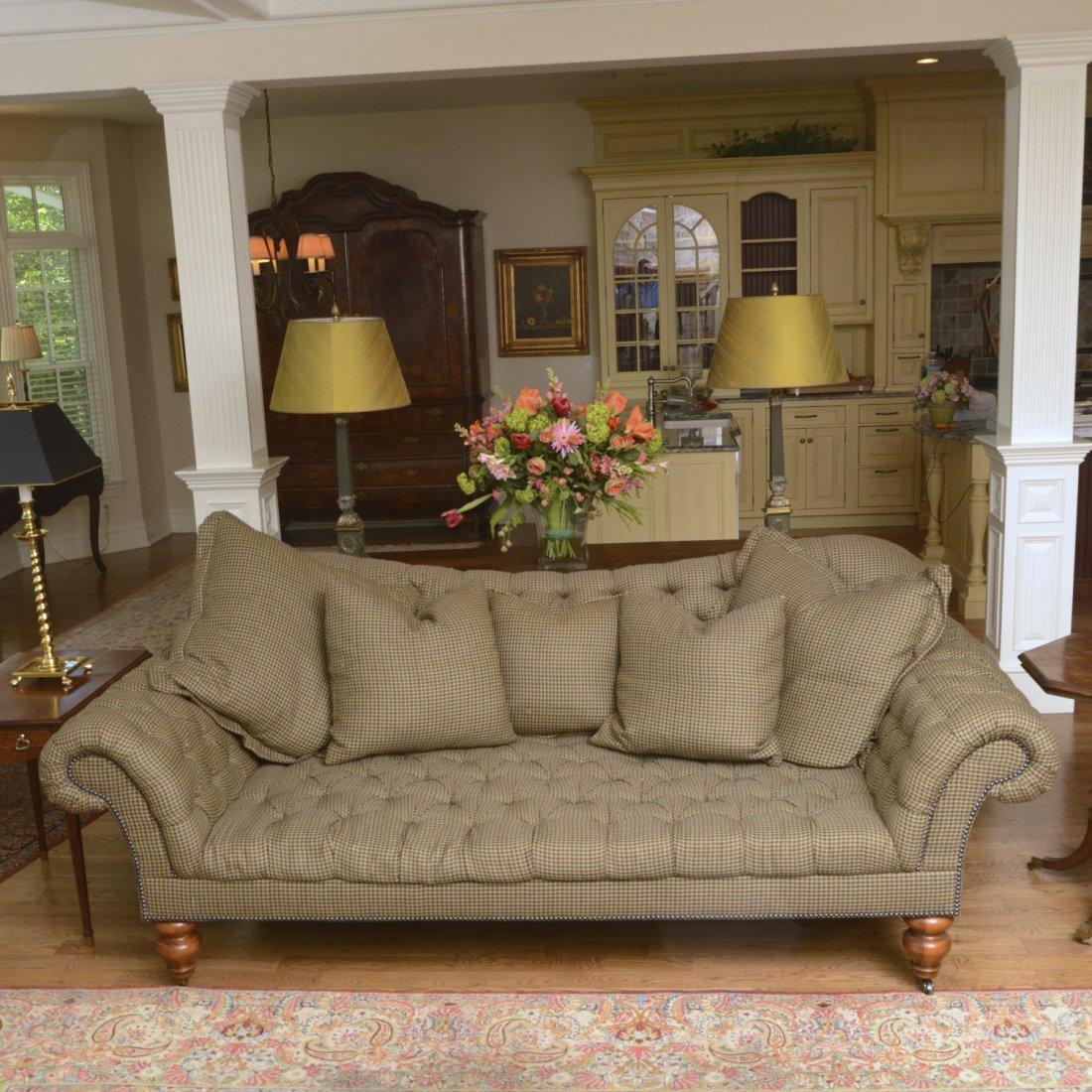 Ralph Lauren Living Room Furniture Ralph Lauren Home Tufted Houndstooth Sofa Lot 1352
