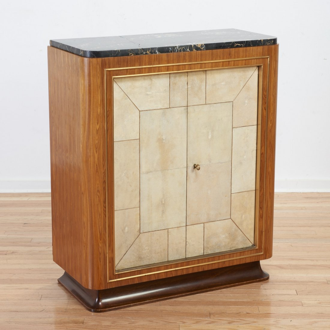 Dominique rosewood and shagreen cabinet