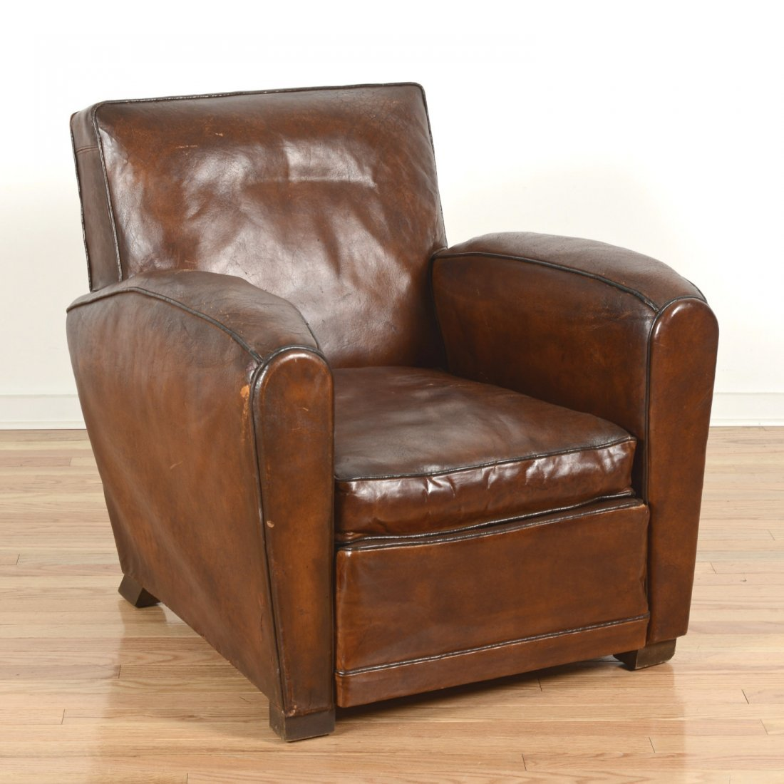 French Art Deco period leather club chair