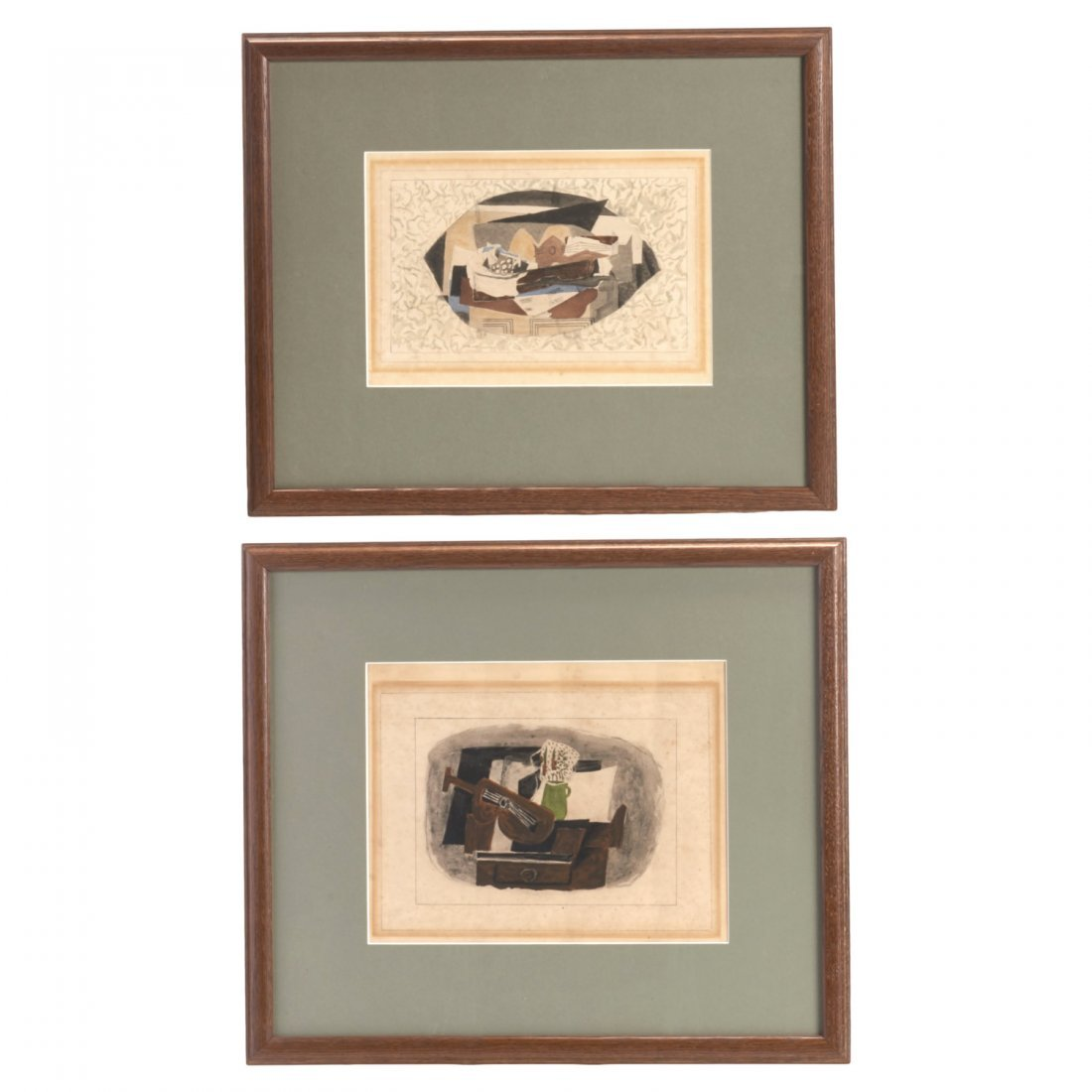 After Georges Braque, pair rare collotypes