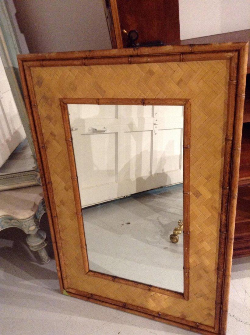 Mid-Century bamboo framed mirror