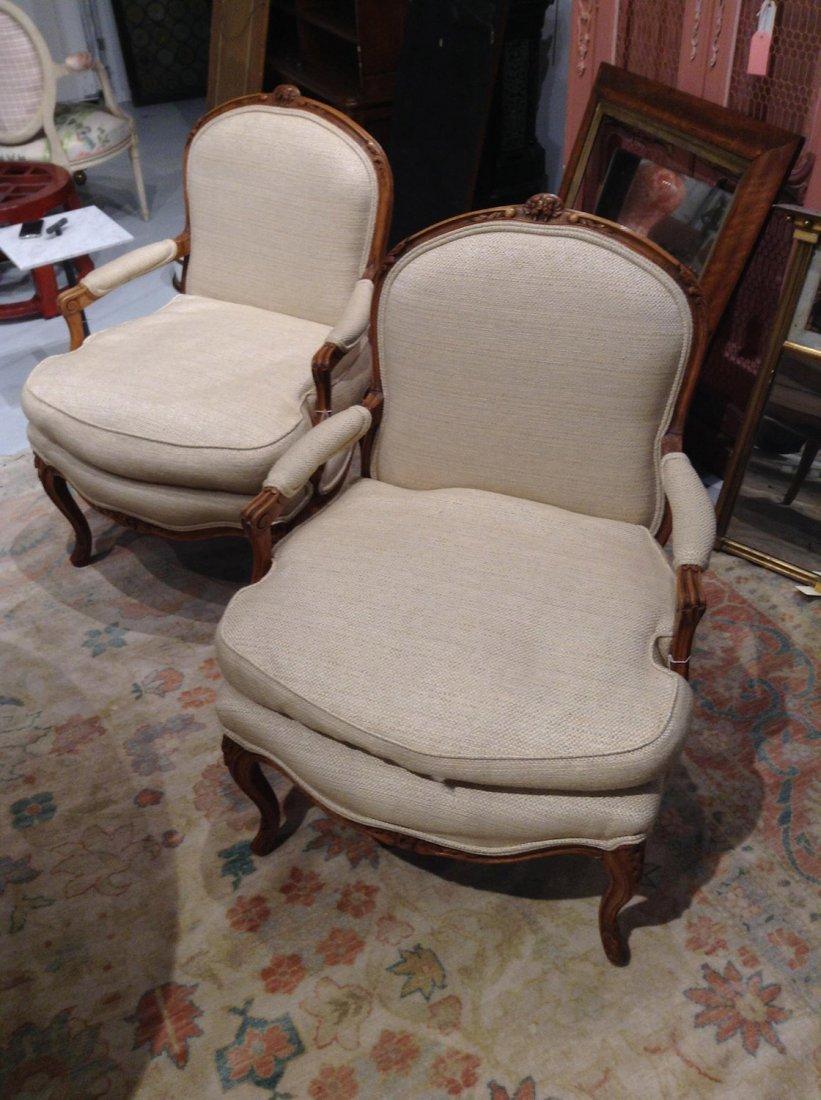 Nice pair Louis XV style armchairs