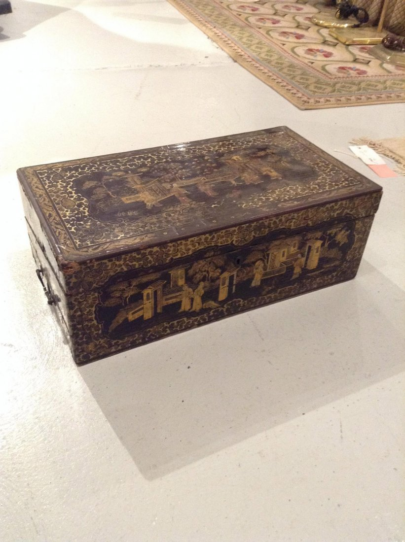 Chinese Export lacquer lap desk