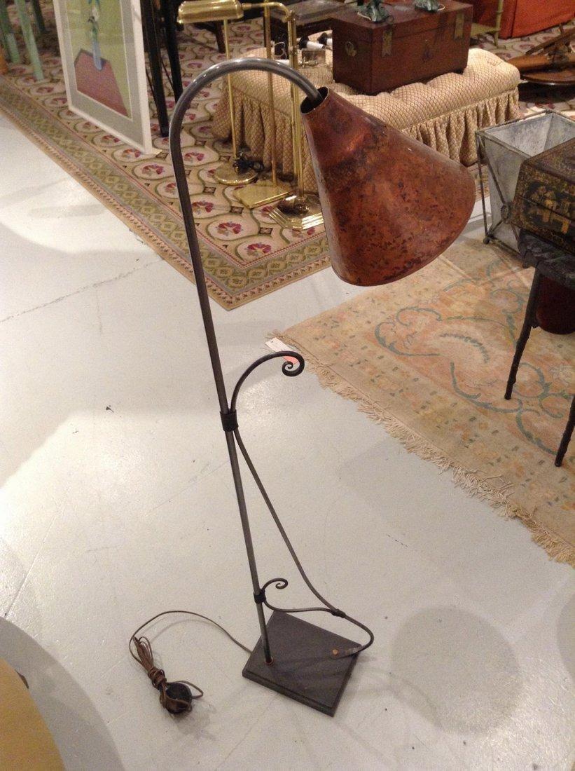 Collin Designs hammered copper floor lamp