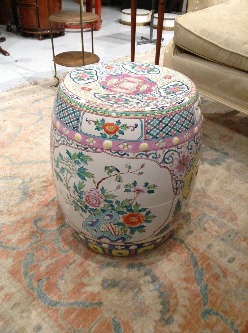 Chinese style glazed ceramic garden seat