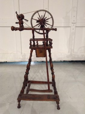 Antique Wooden Child's Spinning Wheel