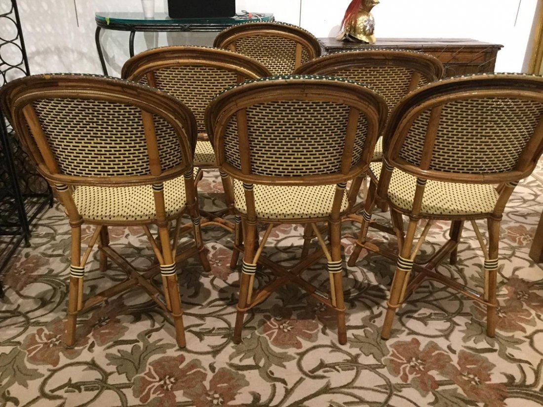Set (6) Maison Drucker rattan cafe chairs - 3