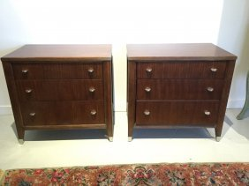 Pair French Moderne Style Chests