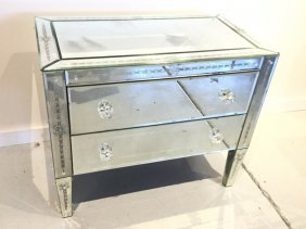Venetian Style Mirrored Commode