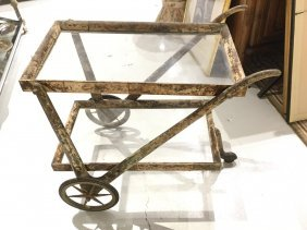 Aldo Tura Style Goatskin Bar Cart
