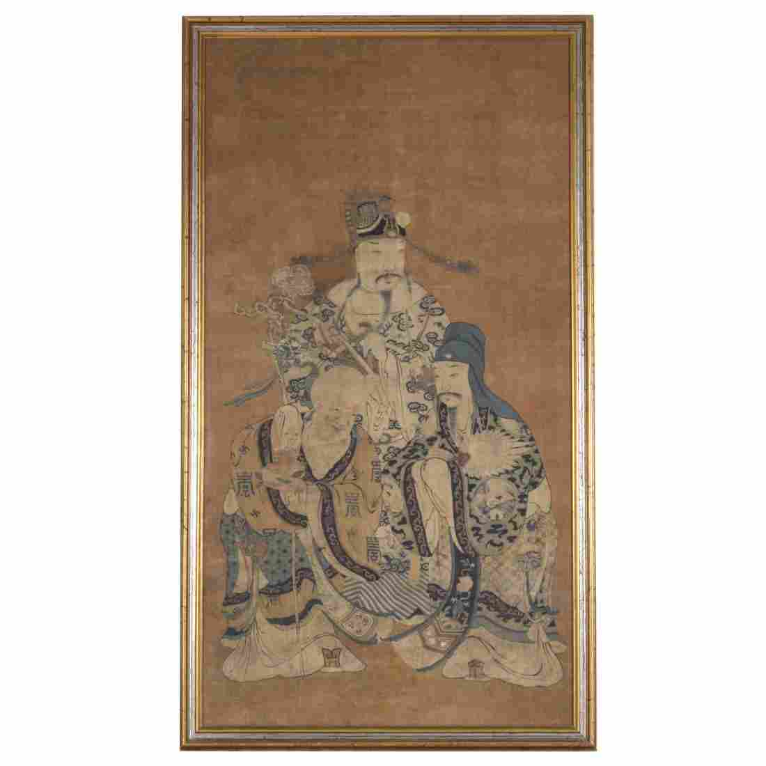 Chinese School, painting on silk