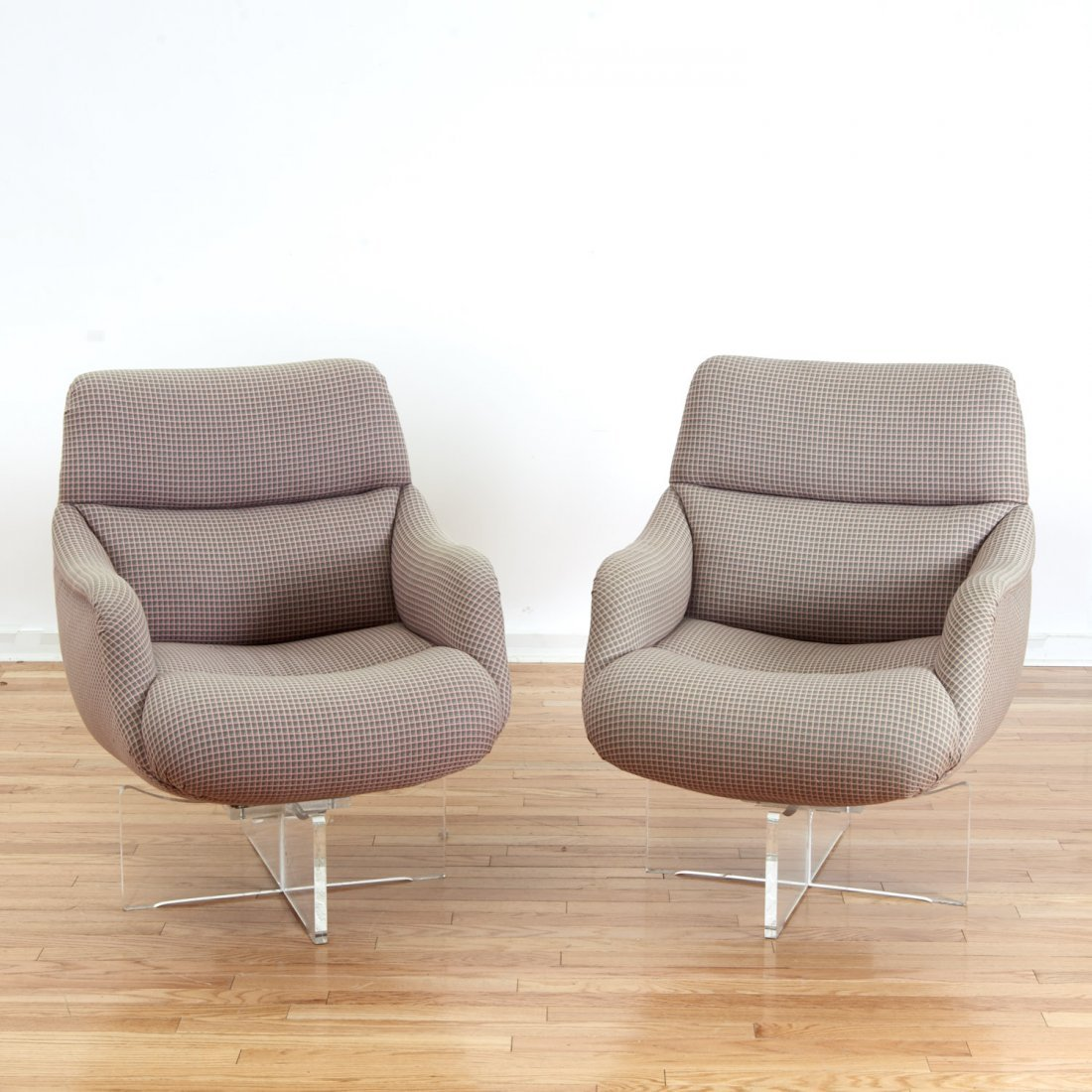 "Pair Vladimir Kagan ""Cosmos"" lounge chairs"