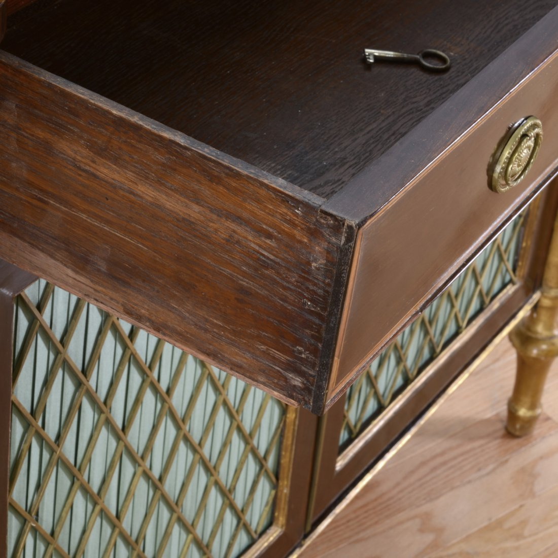 Nice George III parcel gilt rosewood side cabinet - 2