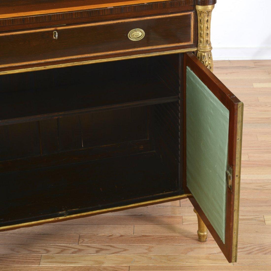 Nice George III parcel gilt rosewood side cabinet - 4